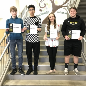 Taylor High School March Student of the Month recipients