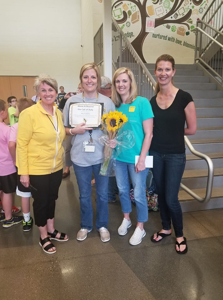 Taylor Middle School Teacher, Ms. Amy Katsetos, for receiving the prestigious TMS PTO ABCD Award