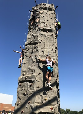 Rock climbing at Taylor Middle School's Adventure Leadership