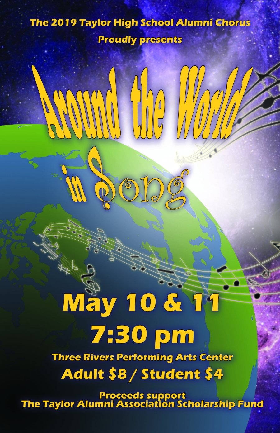 Alumni choir concert for May 2019.