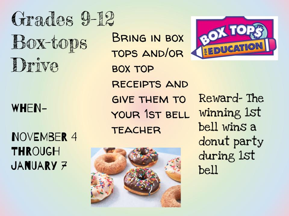 Box Tops Drive for THS