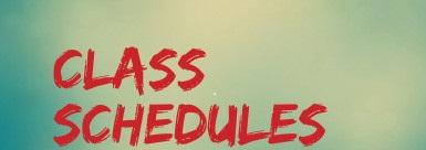 class schedules