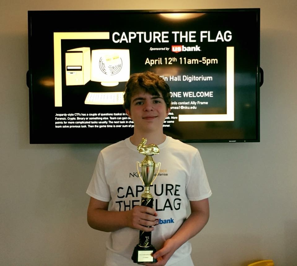 Lee Garber-Ford at the Capture the Flag competition