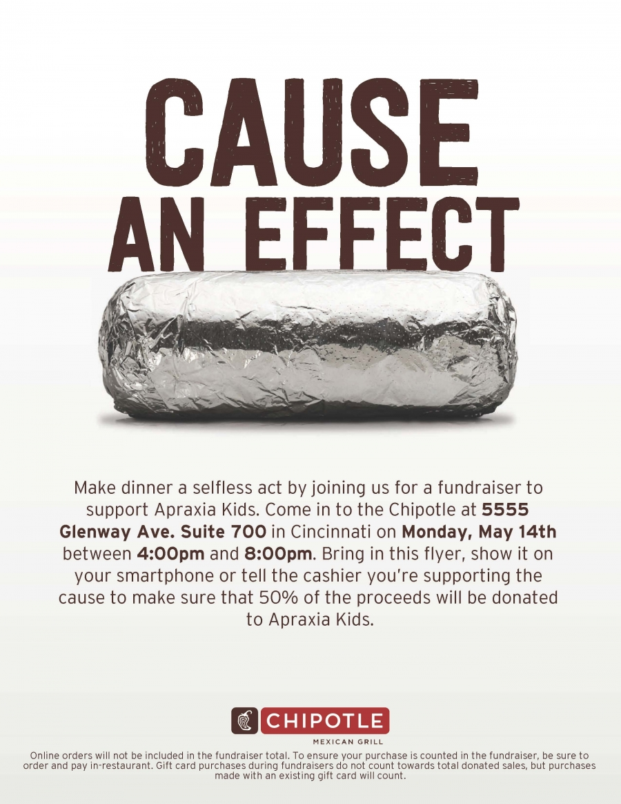 chipotle night to support apraxia may 14, 2018