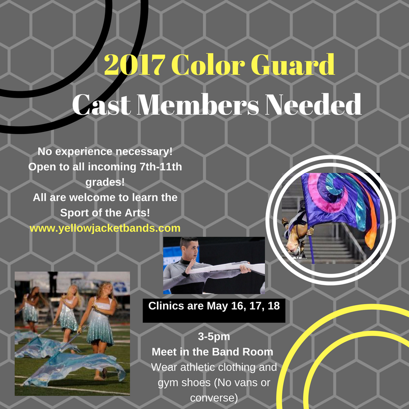 join the color guard flier