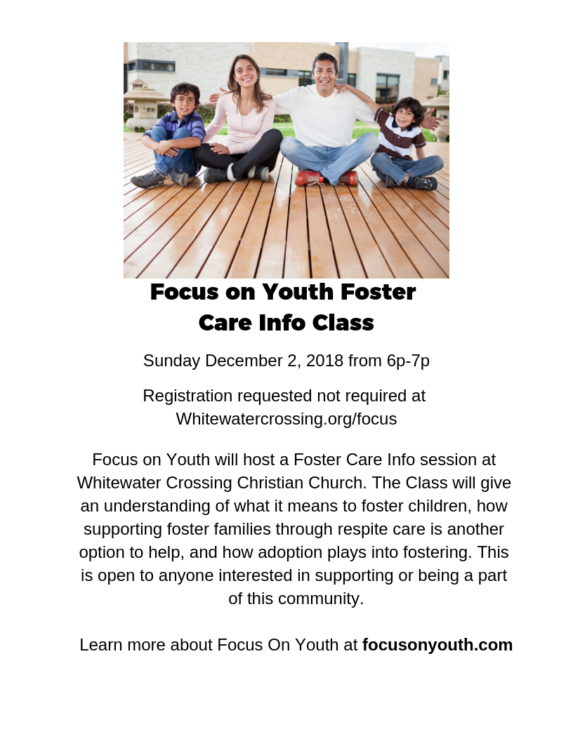 Focus on Youth Foster Care Info Class