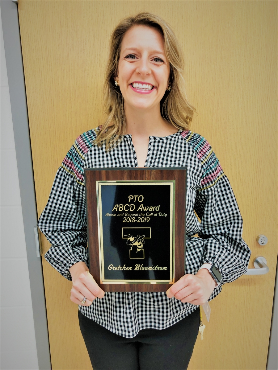 ABCD PTO Award given to Gretchen Bloomstrom