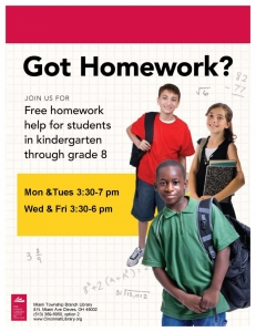 Homework helper flyer