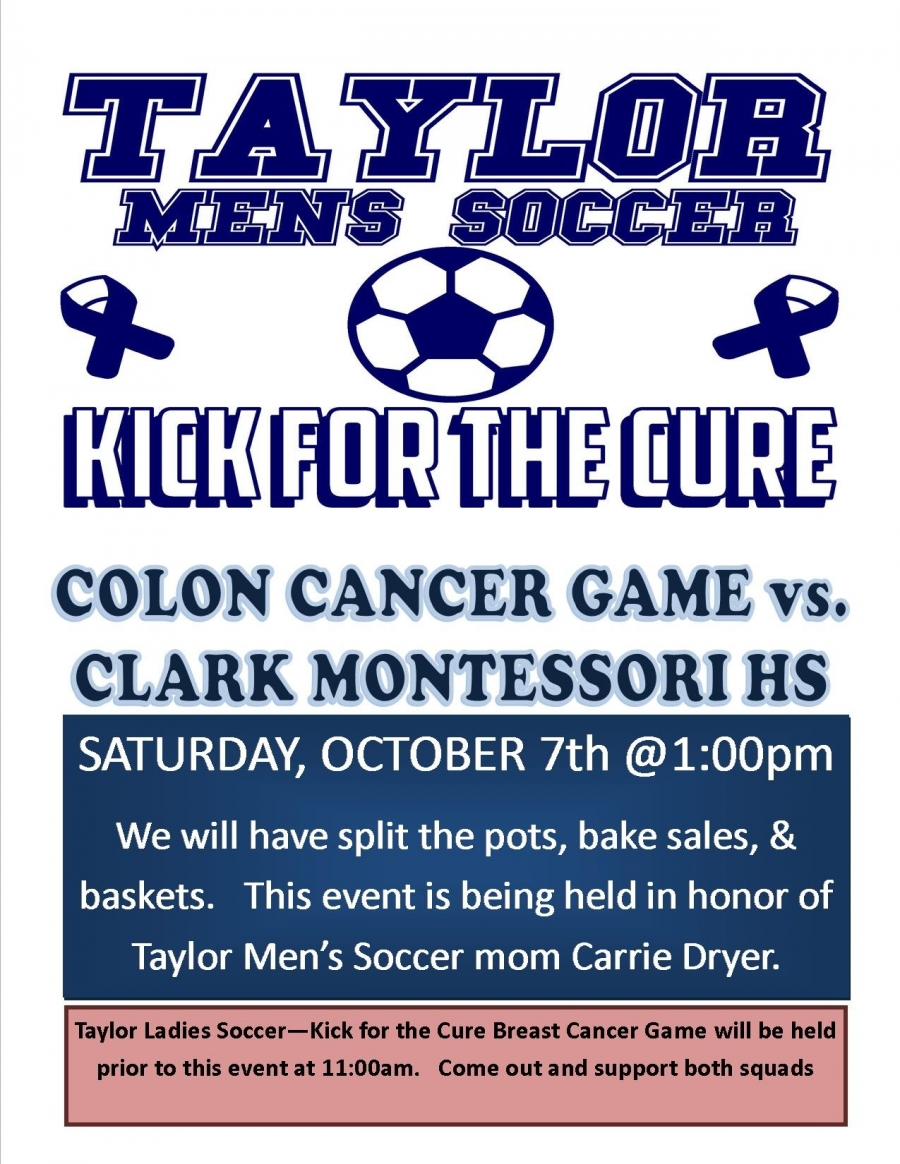 kick for the cure event to support colon cancer