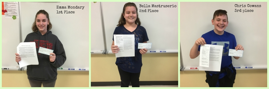 Patriot Pen Essay Winners