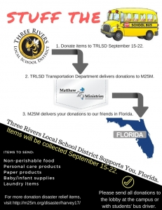stuff the bus to support florida hurricane