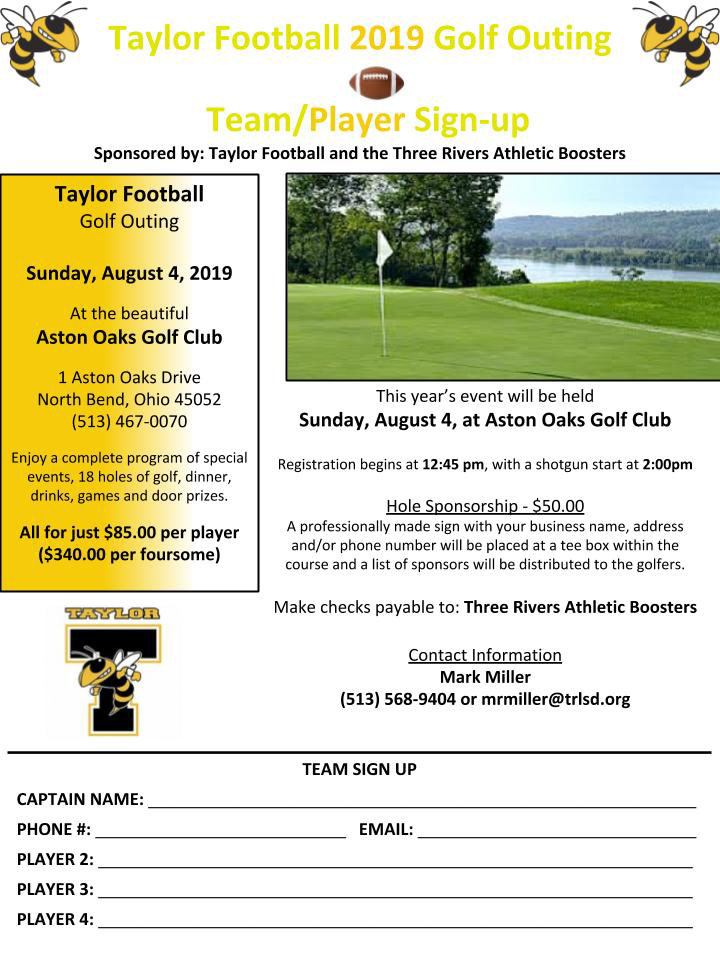 aylor Football Golf Outing