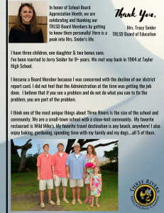 Stephanie Stafford Board of Education information