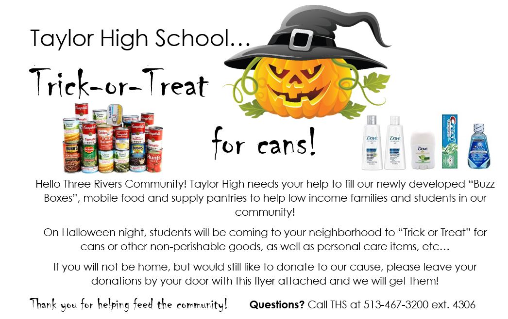 Trick or Treat for Cans