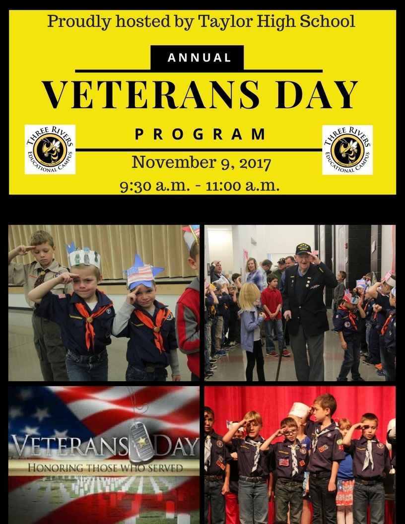 veterans day program November 9th at 9:30 a.m.