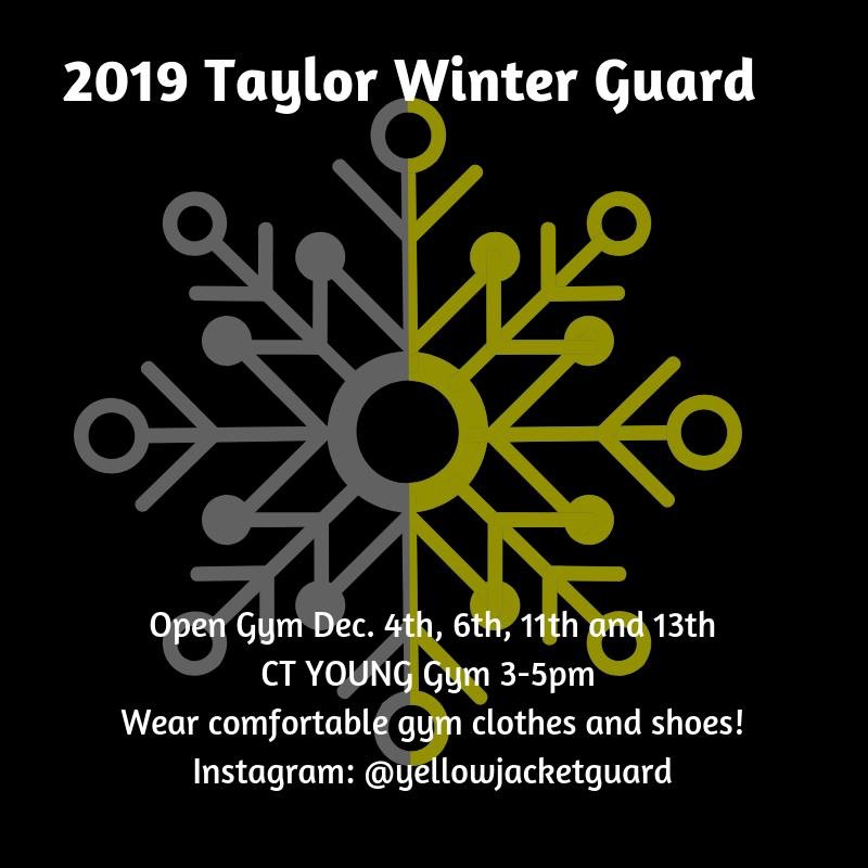 Taylor Winter Guard Open Gyms