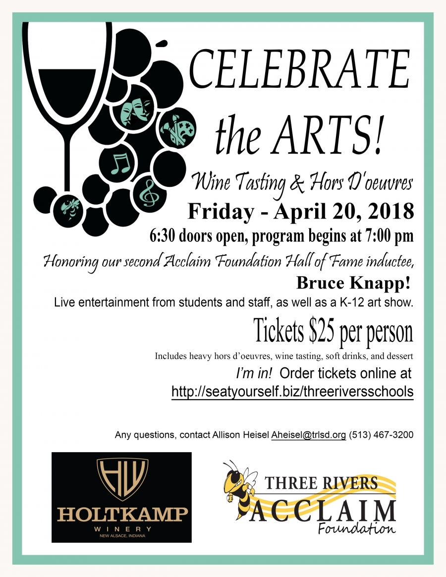 Acclaim Event flyer for April 20, 2018