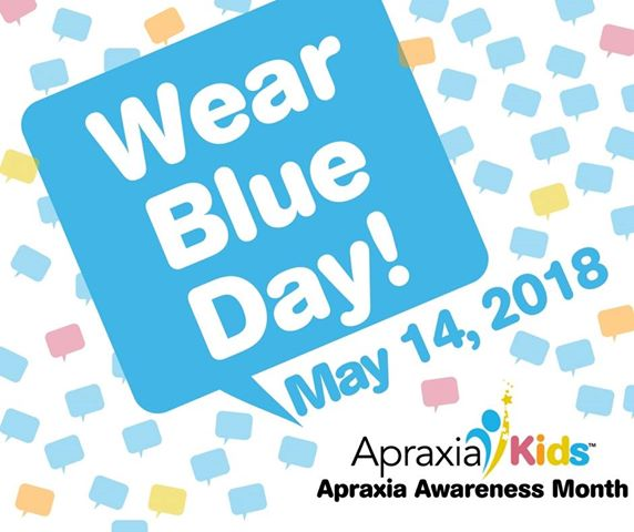 Go Blue for Apraxia on May 14, 2018