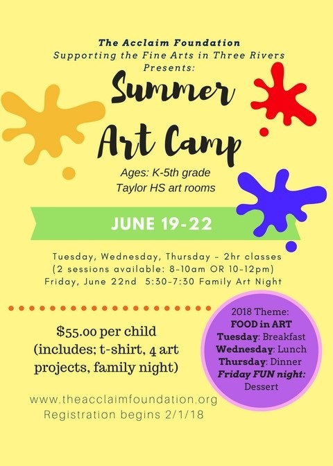 Summer Art Camp 2018