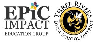 epic impact and three rivers logos