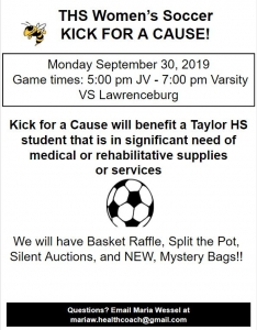 Kick for a Cause flyer for the September 30th game.