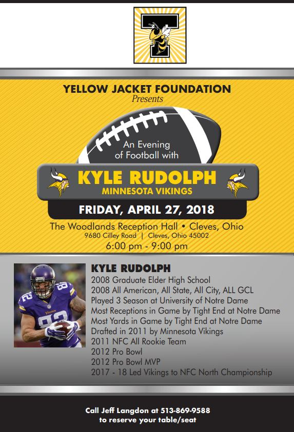 Kyle Rudolph Event flyer