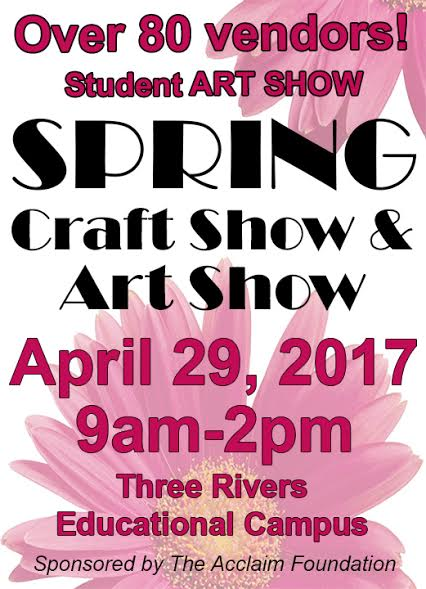spring craft show flier