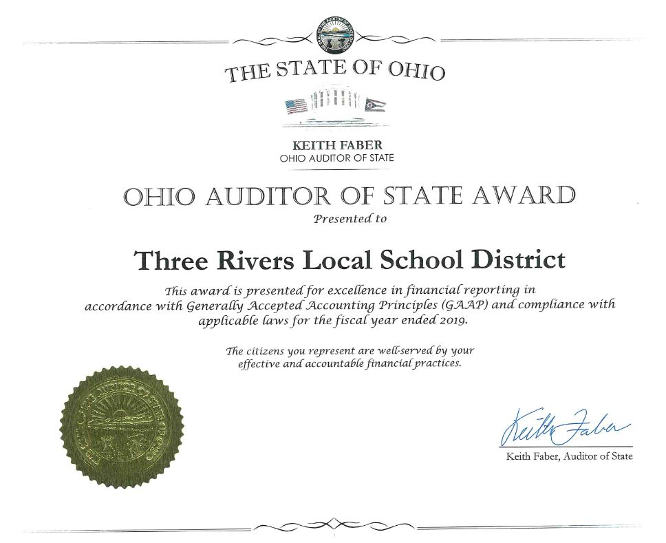 Auditor of the State Award