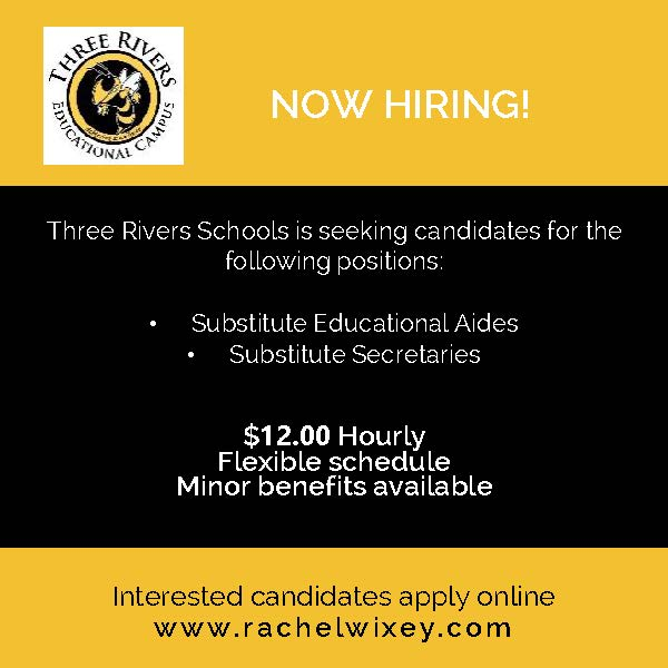 Now hiring for sub aides and secretaries