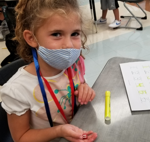 Student on first week of school wearing masks