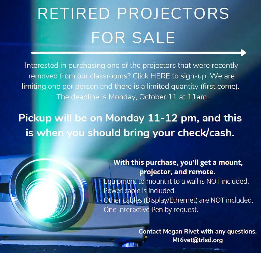 retired projectors for sale
