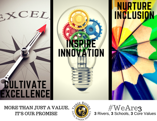 core values logo - inspire innovation cultivate excellence nurture inclusion